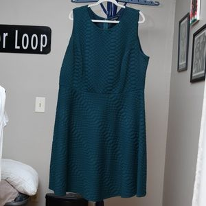 Emerald Green Fit and Flare Dress Sz 22W
